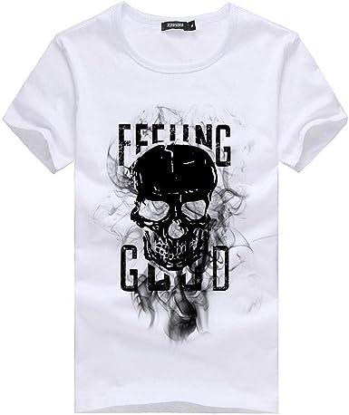 Camisetas Hombre Originales 2019 Nuevo SHOBDW Moda Cráneo ...