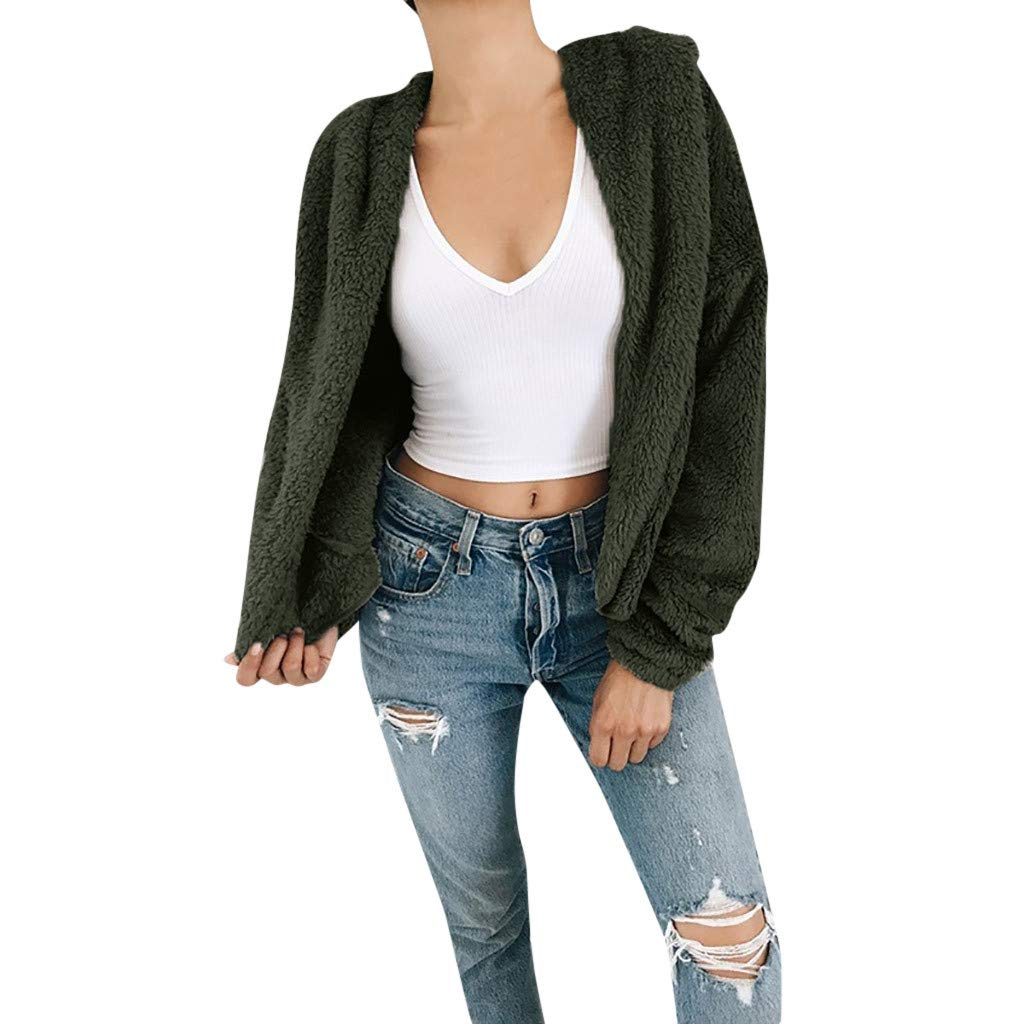 Lmx+3f Fashion Women Cashmere Light Weight Sweaters Casual Knit Cardigan Long Sleeved Loose Soft Comfy Coat Green