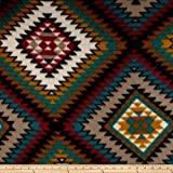 Arts & Crafts : Polar Fleece Indian Blanket Spice Fabric By The Yard