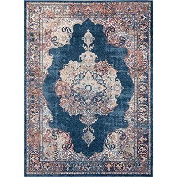 Amazon Com Luxe Weavers Blue Oriental 5x7 Area Rug 7158
