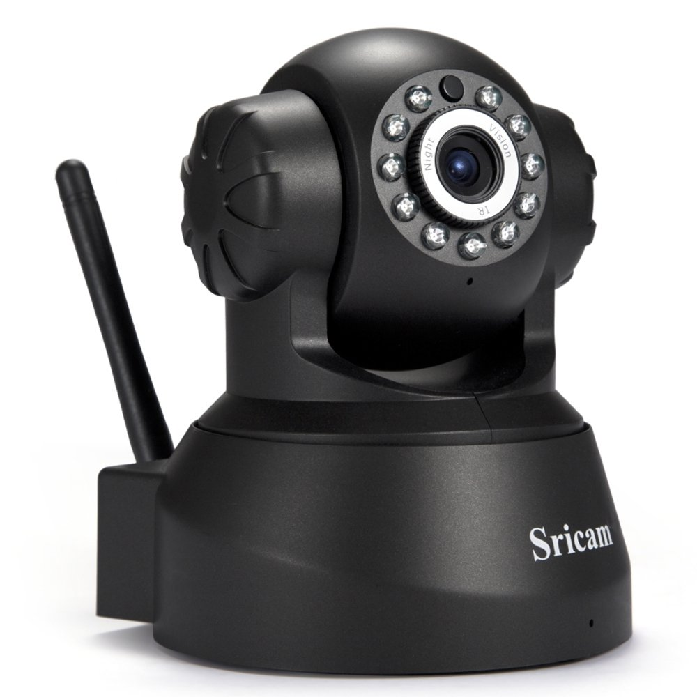 SZYT Infrared Night Vision Mobile View IP Network Camera Wireless WIFI IP Camera Black