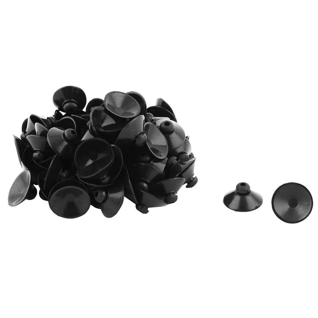 uxcell Rubber Household Round Window Glass Sucker Suction Cup Hanger Pads 90 Pcs Black