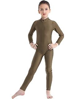 iEFiEL Unisex Kinder Jungen M/ädchen Kurzarm Turnanzug Gymnastikanzug Trikot Leotard Basic Einfarbig Tanzbody Gymnastikbody Turnbody f/ür 4-14 Jahre