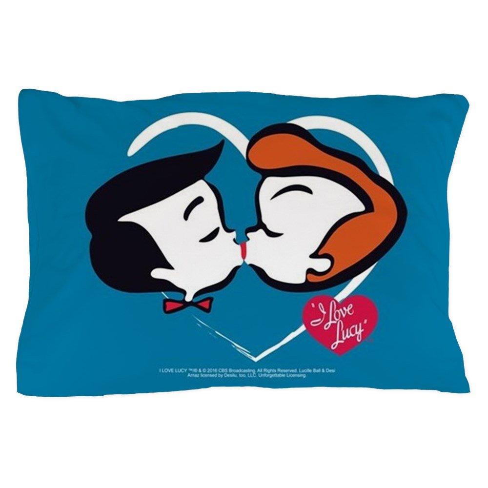 CafePress - I Love Lucy: Stick Heads Kiss - Standard Size Pillow Case, 20''x30'' Pillow Cover, Unique Pillow Slip