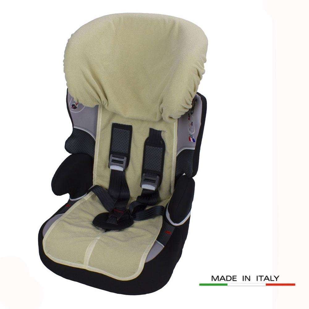 Beige Babysanity Rivestimento copri seggiolino auto 9//36 e 15//36 kg in DOPPIA SPUGNA DI COTONE 100/% colore beige