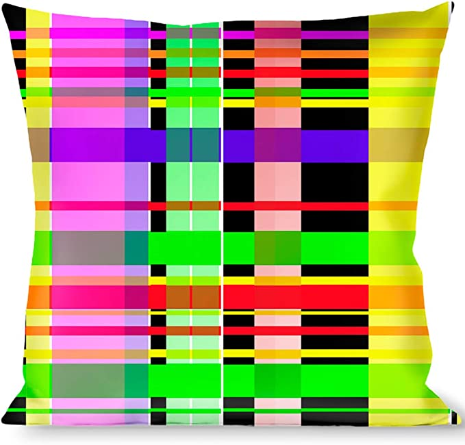 Buckle Down Party TIME Black//Green//Turquoise//Fuchsia Throw Pillow Multicolor