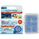 Bio Ears Soft Silicone EarPlugs Protection - 3 Pairs (Light Blue, 2 Packs)