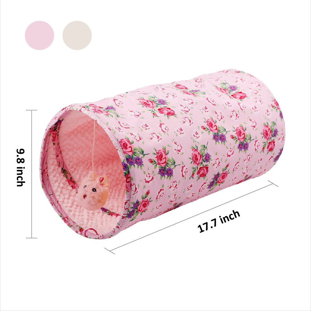 ALL FOR PAWS AFP Crinkle Cat Tunnel Cat Toys (Shabby Chic) by ALL FOR PAWS (Image #2)