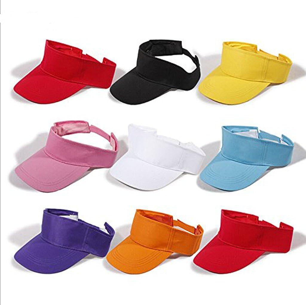 72cc1fc2991 Dealzip Inc® Solid Sports Blank Sun Visor Hat(Black) at Amazon Men s  Clothing store