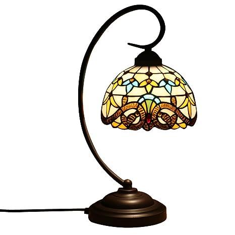 FABAKIRA Lámpara de Mesa 8 Pulgadas Estilo de Tiffany Europea ...