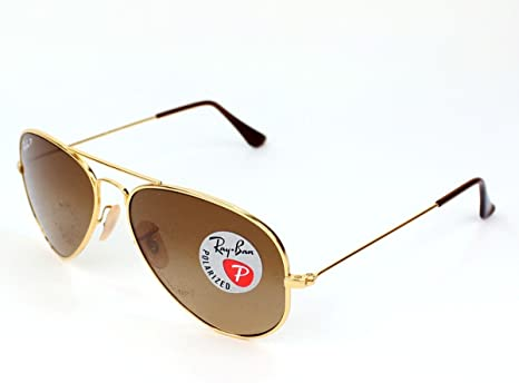 Ray Ban Sunglasses RB 8041 RB8041 001M2 Titanium Gold Brown
