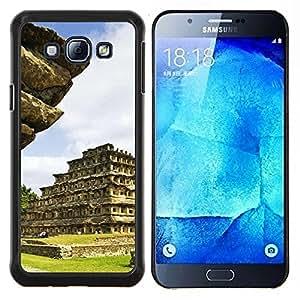 YiPhone /// Prima de resorte delgada de la cubierta del caso de Shell Armor - Arquitectura Inca Maya templo azteca - Samsung Galaxy A8 A8000