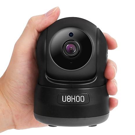 Cámara de seguridad inalámbrica, uokoo 720P HD Mini cámara IP Home Wifi Inalámbrica Cámara de vigilancia ...