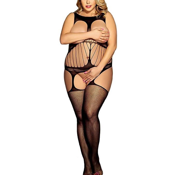 2b69988de82 Zerolove Women s Sexy Lingerie Teddy Open Crotch Bodystocking Sleeveless  Sleepwear Tights