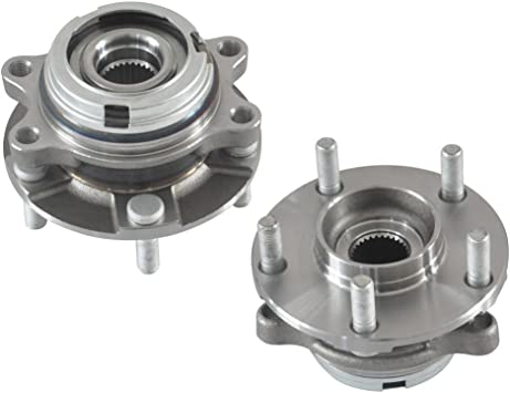 Pair Set Of 2 Wheel Hub Bearing Assemblies Front Left And Right For 07-12 Nissa