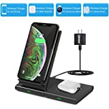 Dual Wireless Charger,COSOOS Qi Certified Wireless Charging Stand Pad for iPhone SE 2020/11 Pro Max/Xs/Xr/X/8 Plus…