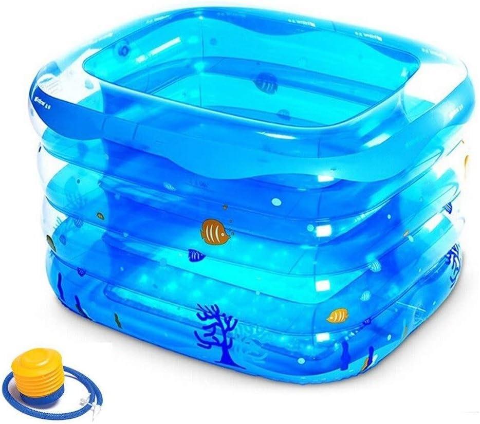 W&NR Baño Inflable Infantil Engrosada niños Plegables Altura casa ...