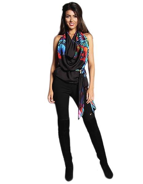 Rebecca Rhoades Camisas - Animal Print - para Mujer Negro Black with Parrot Print