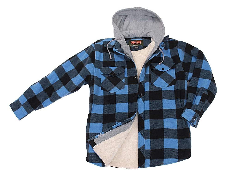 """'""""Lumberjack Checked Hooded Fleece Jacket"""