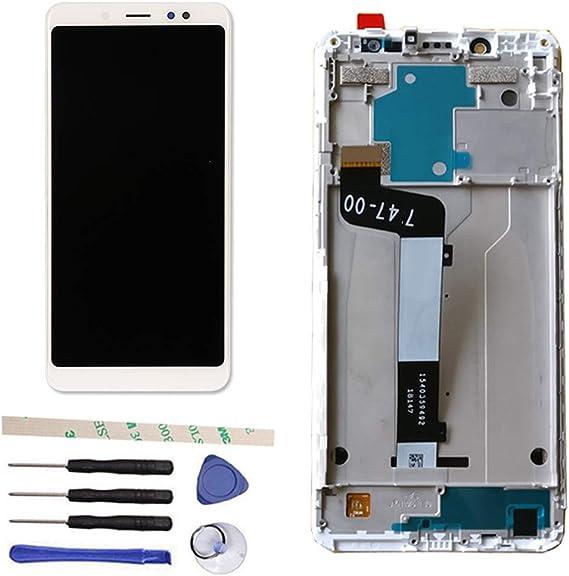 Draxlgon Reparación y reemplazo Pantalla LCD + Digitizador de Pantalla Táctil + Marco para Xiaomi Redmi Note 5 / Pro 5.99
