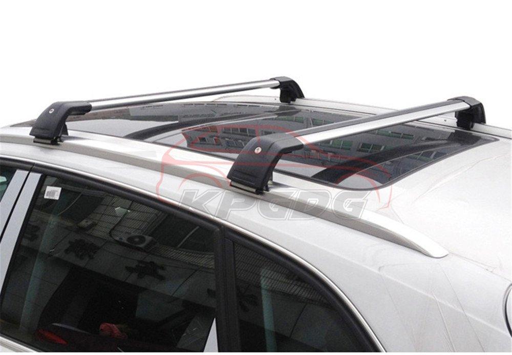 Silver Fit for Hyundai New Kona 2018 2019 Lockable Baggage Luggage Racks Roof Racks Rail Cross Bar Crossbar