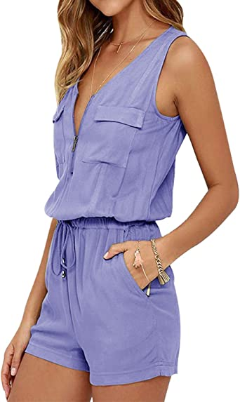 Amazon.com: SUNNYME Women's Rompers Off Shoulder Summer Strapless Short  Jumpsuits Playsuits: Clothing
