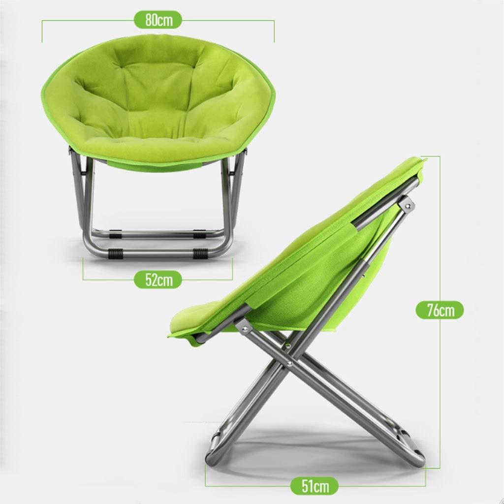 Gglloio stol för sovrum, stolar för ungdomar, stor underlägg stol, Moon Chair Sun Chair faul soffa fällstol fritid soffa Radar Lounge Chair avtagbar design fler färger (färg: H) D
