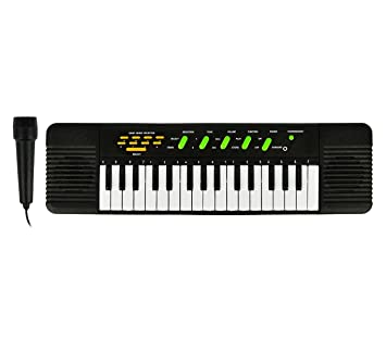 100378 Teclado electrónico de juguete con micrófono 32 teclas con 8 melodías: Amazon.es: Juguetes y juegos