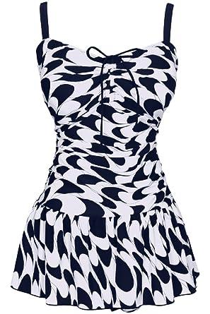 81105f2d38fb9 Damen Retro Paisley Badekleid Große Größen Einteiliger Badeanzug Bauchweg  Bademode, Größe DE 46/Etikettengröße
