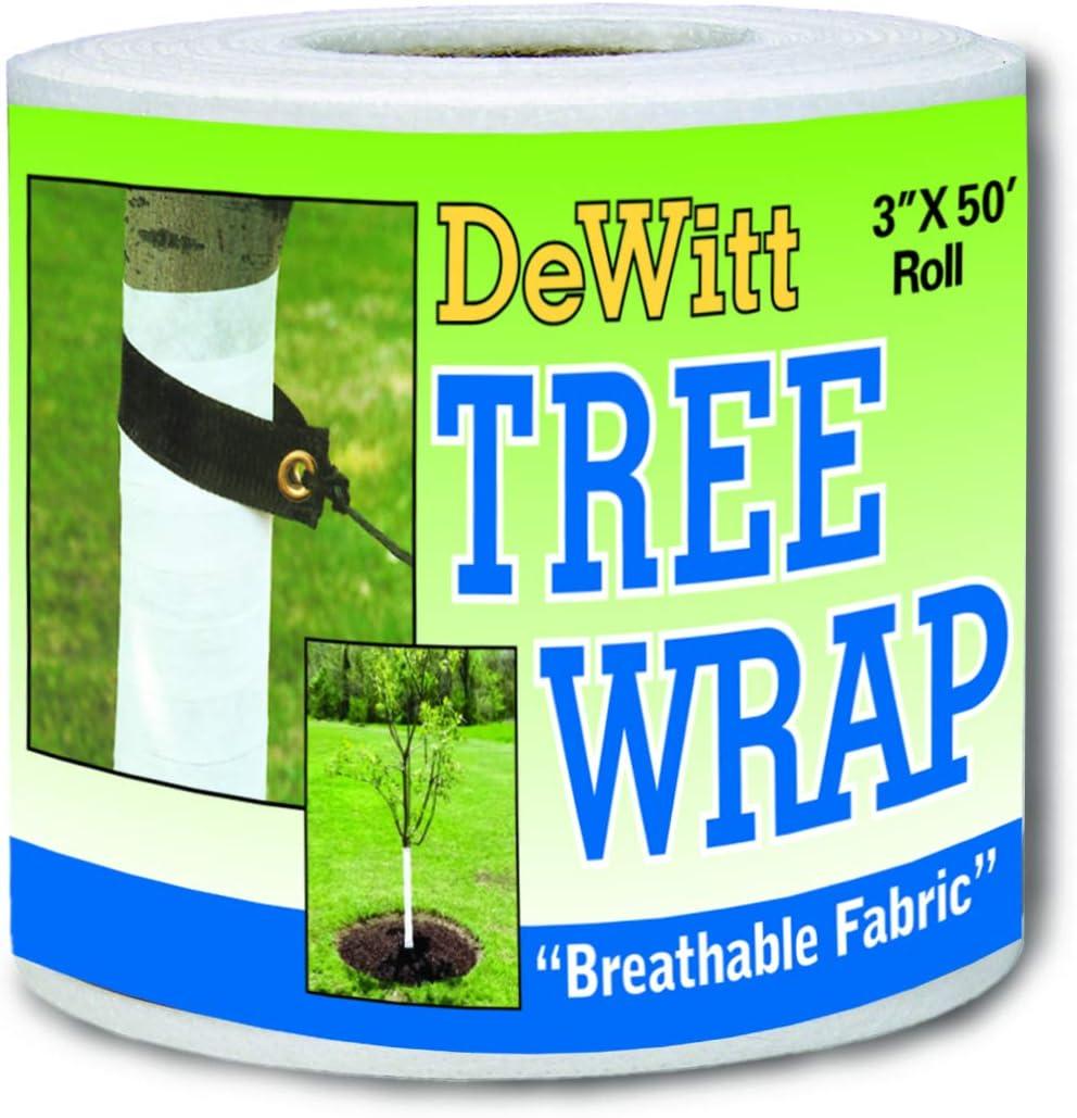 Dewitt 3-Inch by 50-Foot Tree Wrap White TW3W: Industrial & Scientific