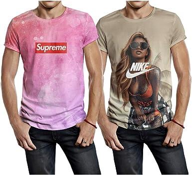 Indefinido Razón Explicación  2 Camiseta Estampada Supreme Galáxia e Garota Nike (GG) | Amazon.com.br