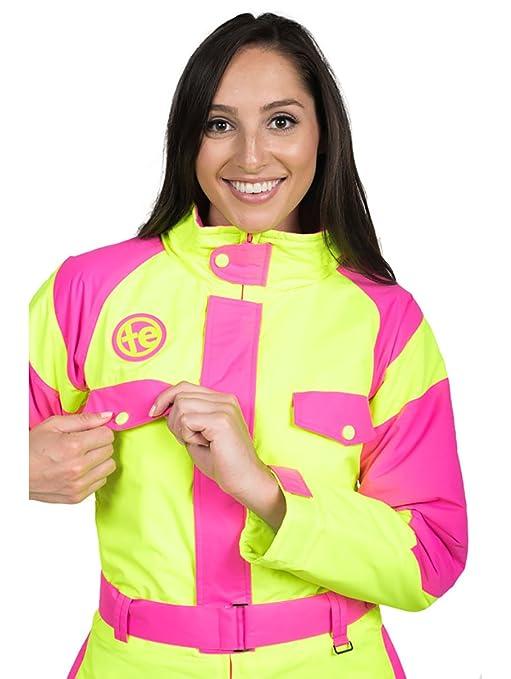Amazon.com  Tipsy Elves Women s Powder Blaster Ski Suit  X-Large Neon  Yellow  Clothing 57d3593b0