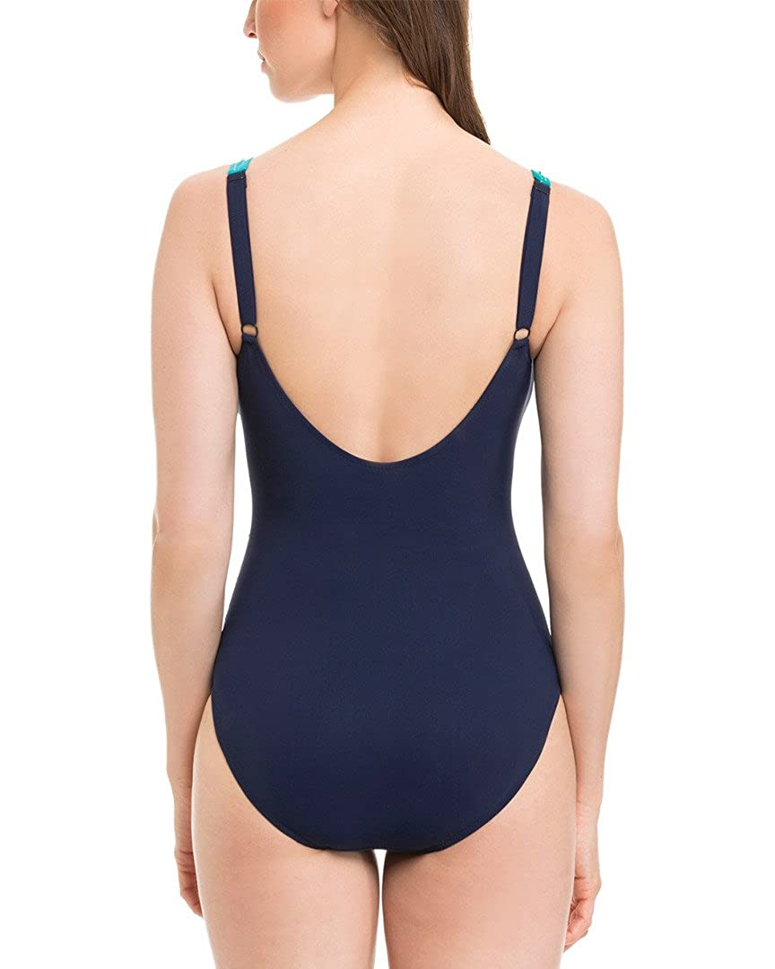 D Cup Swimsuit Profile by Gottex Womens Mondrian One Piece Tank
