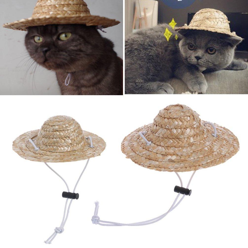 LA VIE Haustier Hut für Katzen und kleine Hunde Kostüm Unternehmen Verstellbare Kopfbedeckung Party Kostüm Zubehör S/M