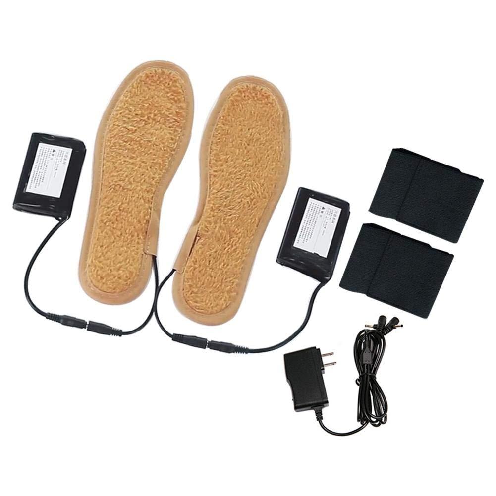 gaeruite Semelle inté rieure chauffante Rechargeable pour Chaussure, Semelle inté rieure chauffante pour Batterie chauffante avec té lé commande Semelle intérieure chauffante pour Batterie chauffante avec télécommande
