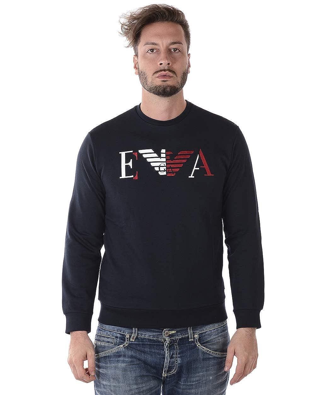 Navy XXL Emporio Armani Men's Sweatshirt Sweat Black