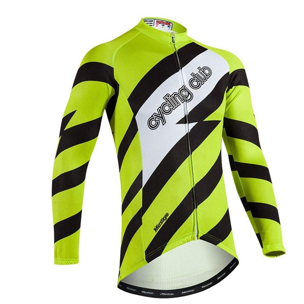 Herren Fahrrad Reitanzug Sommer Fahrrad Trikot Langarm Slim Breathable Shirt Radfahren Speed Drop Service Fahrrad Trikot LPLHJD