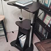 Amazon Com Height Adjustable Laptop Cart With Swivel Top