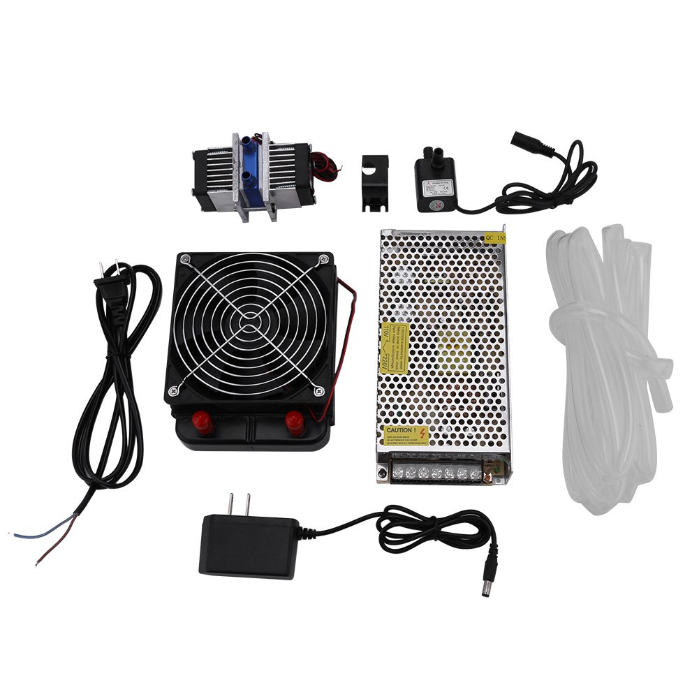 DIY 144W Dual-chip Thermoelectric Peltier Refrigeration TEC1-12706 Cooler with Water Cooling System (Cooler Kit)