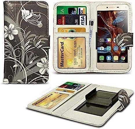 N4U Online/® Verschiedene Muster Clip Serie Kunstleder Brieftasche H/ülle f/ür LG L Bello Denim Jeans