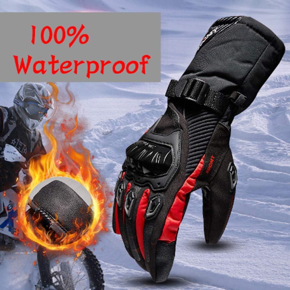 MENUDOWN Motorradhandschuhe 100/% Wasserdichte Winddichte Winter Warme Vollfinger-Touch Screen Handschuhe F/ür Motorrad Radfahren//Jagd//Camping//Wandern//Klettern//Outdoor Sports Handschuhe,Black-S
