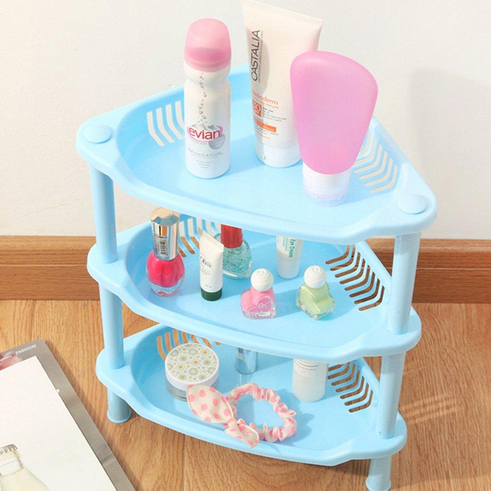 Amazon.com: Topshop 3 Tier Plastic Corner Shelf Organizer Bathroom ...