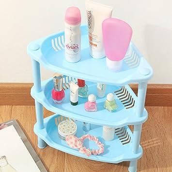 Cuteco 3 Etagen Kunststoff Eckregal Organizer Badezimmer