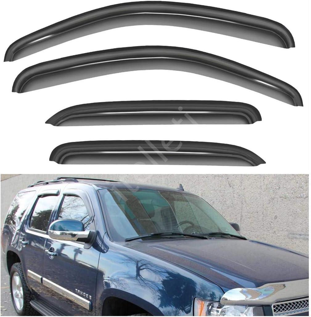 VIOJI 4pcs For 07-14 Chevy Tahoe//GMC Yukon Sun//Rain Guard Vent Shade Window Visors