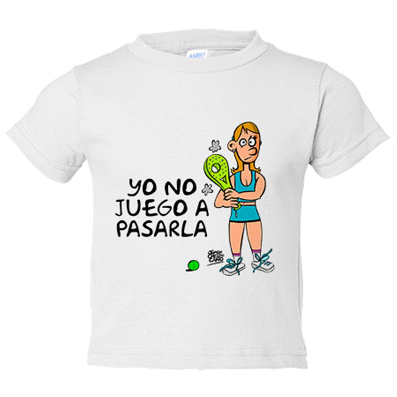 Camiseta niño padel ella yo no juego a pasarla - Amarillo, 3-4 ...