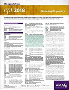 CPT 2018 Express Reference Coding Card Pulmonary/Respiratory