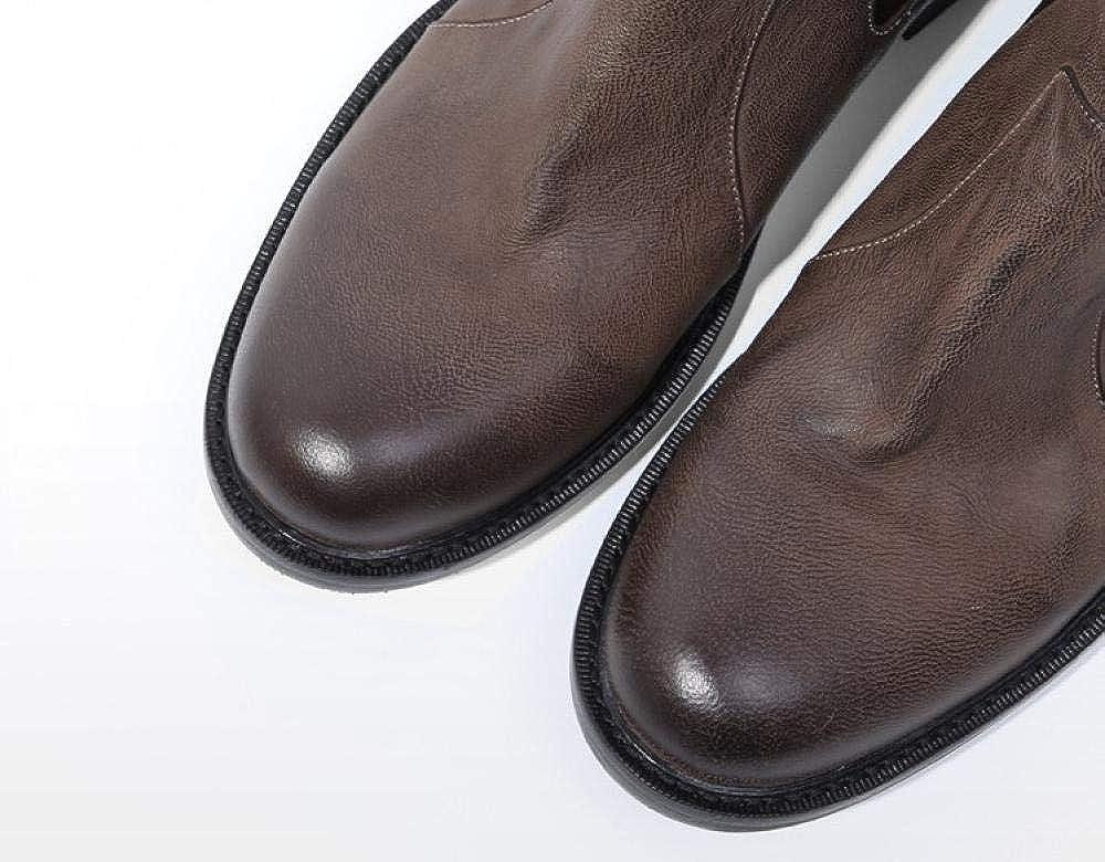 Scarpe Uomo Stivali Chelsea Stivali Alti da Uomo Stivaletti Classici Stivali Martin retrò Stivali da Uomo retrò Old Casual Colore Del Caffè