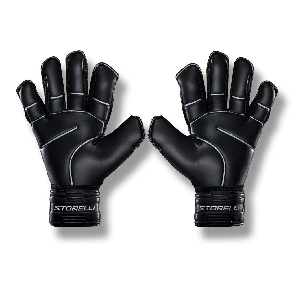 Storelli Gladiator Pro 2 Goalkeeper Gloves |High Perfomance Soccer  Goalkeeper  Gloves |Highest Grade German Latex |Sweat-Wicking|Black by Storelli (Image #2)