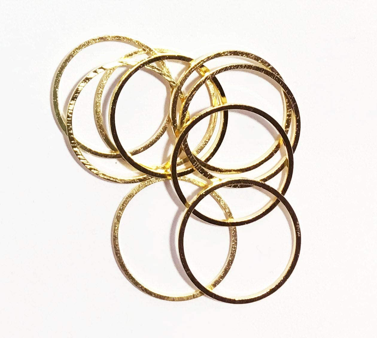 1mm thick 10 pcs  Antiqued copper plated brass round connector rings 20mm