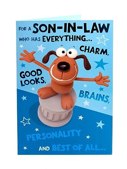 Amazon Hanson White Son In Law Birthday Card